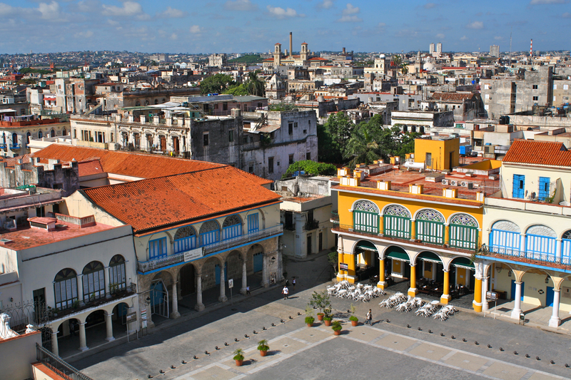 Plaza Vieja is the main heart of Habana Vieja district.